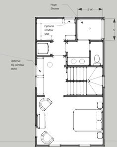 OPTION A: Third floor master closet/bath/laundry area with large walk in shower with transom and optional -skylight, built in niche or bench.  Flex/entertainment space could be used for furniture (desk/seating) or contain optional upgrade wetbar and/or window seat with storage.