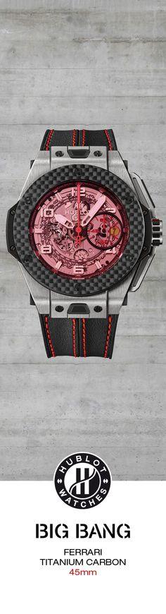 #Hublot Big Bang Ferrari Titanium Carbon - Limited Edition