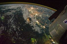 I confini più strani del mondo: quando la divisione c'è e si vede - Repubblica.it: India-Pakistan. India Pakistan Border, Earth At Night, Light Pollution, Space And Astronomy, Night Photos, World's Most Beautiful, To Infinity And Beyond, Aerial View, Earth