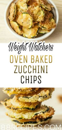 Oven Baked Zucchini Chips Sebze yemekleri – The Most Practical and Easy Recipes Weight Watchers Zucchini, Weight Watchers Diet, Weight Watcher Dinners, Zucchini Chips Recipe, Bake Zucchini, Baked Zuchini Recipe, Vegetable Recipes, Vegetarian Recipes, Cooking Recipes