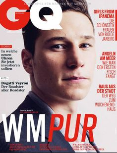 GQ Germany July Issue–GQ Germany celebrates the World Cup with its latest issue for July. Enlisting football legends, past and present… German Men, German Boys, English Men, Bugatti Veyron, Gq, Germany Football Team, Julian Draxler, Paris Saint Germain Fc, Fifa 2014 World Cup