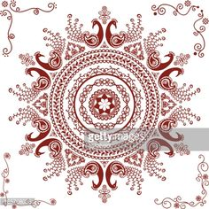 165768036-mehndi-peacock-circle-design-gettyimages.jpg (414×414)