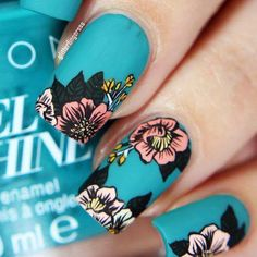 Fun Nail Art für Kinder Awesomefun Nail Art Ideen Color Combos - Easy New Fun Nail Designs that are DIY - Nageldesign Great Nails, Cute Nail Art, Cute Nails, Flower Nail Designs, Diy Nail Designs, Purple Nail, Nails Turquoise, Floral Nail Art, Manicure E Pedicure