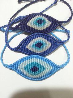 evil eye makrome bracelet