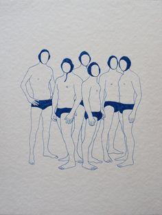 franciscohurtz: sem título / untitled nanquim azul sobre papel / blue nankeen on paper 2013