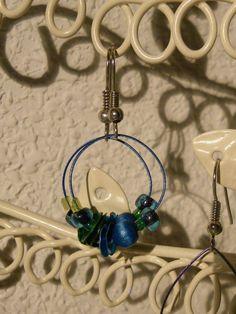 blue hoops  orange hoops by anascrafties on Etsy, $11.90
