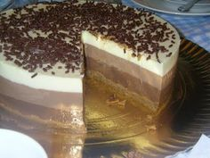 Receta de Tarta 3 chocolates