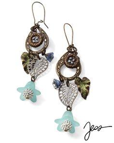 Vintaj - E0342 - Nested Winter by Jess Italia Lincoln using beads from our Online Bead Partner @bello Modo & Vintaj!