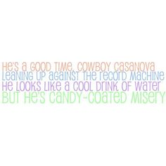 Carrie Underwood Cowboy Casanova ❤ liked on Polyvore featuring quotes, text, carrie underwood, words, phrase and saying