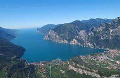 Seen aerial photograph and view of Riva del Garda from the plane - Riva del Garda