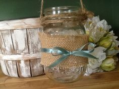 Hanging+mason+jar+set+of+10+by+PineNsign+on+Etsy,+$70.00