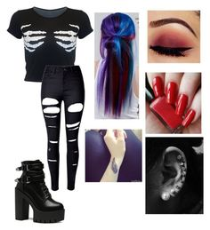 """""""Untitled #289"""" by coreeeeeeenn on Polyvore featuring WithChic and Manic Panic NYC"""