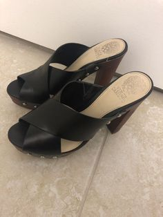 275c3a632e73 Vince Camuto Elora Platform Sandal - Black Leather Size 9  fashion   clothing  shoes  accessories  womensshoes  heels (ebay link)