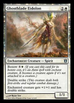 MTG BNG 4x Ghostblade Eidolon Magic the Gathering Born of the Gods Uncommon