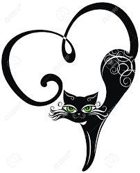 Risultati immagini per tattoo black cat silhouette