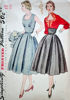 Vintage size 14 Bust 32 Waist 26 Hip 35 Copyright 1951 Condition: uncut, complete, instruction and transfer sheet included, some