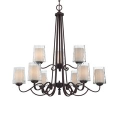 Potential Entryway Lighting - Quoizel ADS5009DC Adonis 9-Light Chandelier