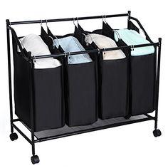 Songmics 4-bag Rolling Laundry Sorter Cart Hamper Heavy Duty Laundry Basket with Wheels Large Bags Black URLS96H SONGMICS http://www.amazon.com/dp/B015KJXO12/ref=cm_sw_r_pi_dp_YpwOwb0CFZHAY