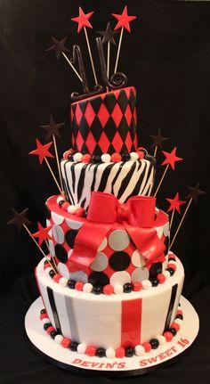 Animal Print Sweet 16 birthday Cake Sweet 16 birthday 16th