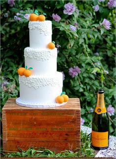 orange wedding cake!
