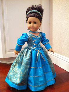 Renaissance Princess Doll Dress 2012 Couture by SmallWorldCouture