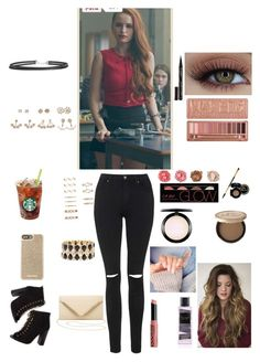 """""""Cheryl Blossom outfit"""" by elenanewman on Polyvore featuring Topshop, Charlotte Russe, Smith & Cult, Urban Decay, L.A. Girl, MAC Cosmetics, Too Faced Cosmetics, NYX, Victoria's Secret and Boohoo"""