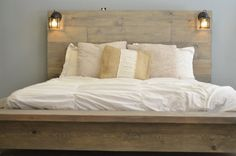 20% Sale Quilmes Floating Rustic Wood Platform by KnotsandBiscuits