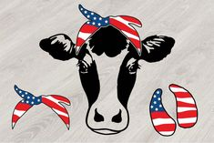 The Handmade Heifer Cow USA Flag Bandana, cowboy July Farm Milk example image Vinyl Crafts, Vinyl Projects, Paper Crafts, Heifer Cow, Cowboys 4, Die Cut Machines, Back Art, Silhouette Cameo Projects, Vinyl Cutting