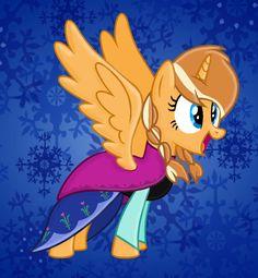 My+Little+Pony+Version+Frozen | Frozen: MLP Anna by Color-Clouds