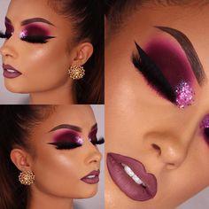 Unique Makeup, Beautiful Eye Makeup, Sexy Makeup, Makeup On Fleek, Glam Makeup, Eyebrow Makeup, Pretty Makeup, Love Makeup, Makeup Inspo