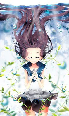 Nagi no Asukara by lEdogawa Cute Kawaii Girl, Me Me Me Anime, Anime Guys, Manga Anime, Anime Art, Cute Anime Pics, Underwater Art, Hyouka, Image Manga
