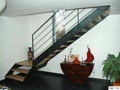 Fabrication escalier metal bois, escalier moderne en Bretagne Morbihan | Fabric Metal.