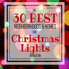 The best neighborhoods for Christmas lights in Houston! Homes with synchronized dancing and singing lights to music. Christmas light hot spots in Houston.