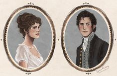 Elizabeth Bennet and Fitzwilliam Darcy, my loves just in time for Valentine's Day ♥️