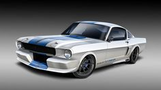 The that powers Classic Recreations' Ford Shelby Mustang uses two turbochargers to generate anywhere between 365 and 600 horsepower. Shelby Mustang, Ford Mustang Eleanor, Ford Shelby, Mustang Fastback, Chip Foose, Shelby Gt350r, Mustang Ecoboost, Automotive Art, Nose Art