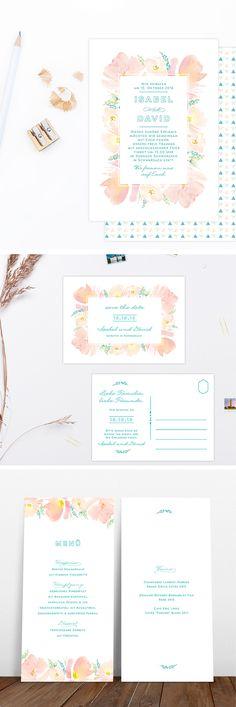Boho Blooms #weddinginvite #hochzeitspapeterie #hochzeitseinladung #boho #wedding