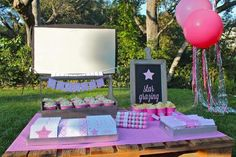 "Under the Stars Birthday Party: ""Star Grazing"" concession stand for outdoor movie {Bloom Designs}"