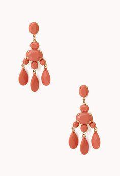 Elegant Faceted Drop Earrings | FOREVER 21 - 1000073119