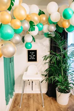 Need to find a cute area like this to create a backdrop for his high chair cake smash!