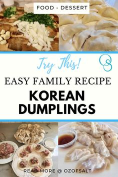 40 minutes · Serves 8 · Easy and delicious korean dumpling recipe. Make the perfect meal for your friends and family. A great appetizer of accent to any dinner or lunch. Get the full recipe on the blog! #ozofsalt #food #dinner #lunch #easymeals #appetizers #koreanfood #tastyfood #recipes Sugar Dumpling, Dumpling Recipe, Easy One Pot Meals, Easy Family Meals, Delicious Recipes, Healthy Dinner Recipes, Yummy Food, Korean Dumplings, Pork Pasta