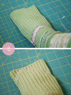 Pearls & Scissors: DIY Upcycled Socks from sweater sleeves.  These would be great to keep your feet warm while you sleep!