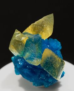Cavansite with Calcite from India by Fabre...