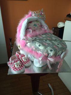 Princess in making: diaper stroller