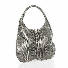 Devi Kroell Metallic Steel Python Hobo Bag
