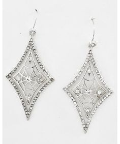 443761 Rhodiumized / Clear Rhinestone / Lead&nickel Compliant / Diamond Dangle / Fish Hook Earring Set