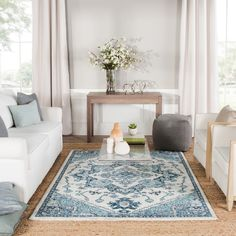 Keep your summer light and bright by bringing the feeling inside. Jaipur rugs are on sale right now during our summer sales event through July 9th.   #blueandwhite #brightrugs #turquoiserug #powerloomedrug #persianmotifs # #brightarearugs #livingroom #livingroominspo #contemporarylivingroom #fourthofjulysale #summerstyle #interiordesign #homedesign Turquoise Rug, Living Room Decor Inspiration, Persian Motifs, Jaipur Rugs, Polypropylene Rugs, Rugs In Living Room, Power Loom, Colorful Rugs, House Design