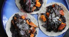 Sweet Potato, Black Bean, & Swiss Chard tacos. Need to substitute rice ...
