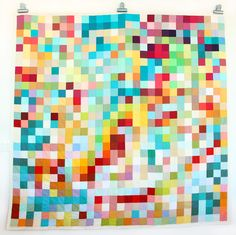 Queen Pixel quilt by Julie @ Zipper Teeth - stunning!!