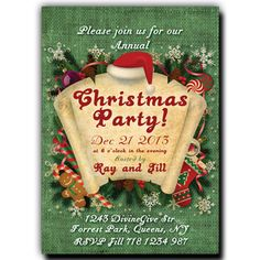 Christmas Party Invitation - Paper Scroll on red fabric background Christmas Party Invitations, Halloween Invitations, Printable Wedding Invitations, Bridal Shower Invitations, Invitation Paper, Red Fabric, Printables, Christmas Ornaments, Holiday Decor