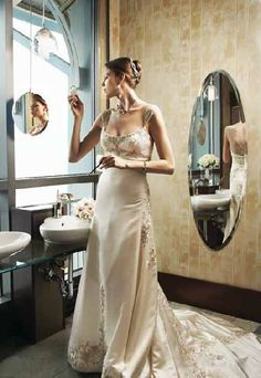 champagne wedding dresses are perfect when you want traditional, but white and ivory aren't for you.